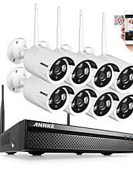 Недорогие -Аннки WiFi система 8-канальный 8шт 720p камеры видеонаблюдения в помещении / на открытом воздухе ночного видения без жесткого диска