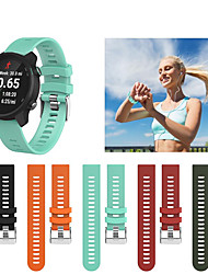 Недорогие -Спортивный силиконовый браслет ремешок для часов ремешок для часов Garmin предтечи 245 м / 245 / предтечи 645 / Vivoactive 3 / Vivomove Hr Smart Watch