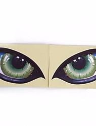 Недорогие -2шт 3d стерео светоотражающие кошачьи глаза стикер автомобиля творческий зеркало заднего вида этикета
