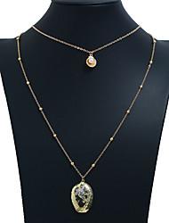 ieftine -Pentru femei Lănțișor Coliere Layered Perle Scoică Auriu 69 cm Coliere Bijuterii 1 buc Pentru Zilnic Școală Stradă Concediu Festival