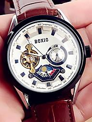 Недорогие -Муж. Механические часы Японский кварц Кожа Защита от влаги Аналоговый Классика - Черный Коричневый / Нержавеющая сталь