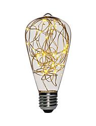 Недорогие -1шт 3 W LED лампы накаливания 200-300 lm E26 / E27 ST64 25 Светодиодные бусины SMD Декоративная Новогоднее украшение для свадьбы Медный провод свет Тёплый белый 85-265 V