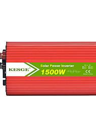 Недорогие -Kesge 1500 Вт автомобильный инвертор DC12V / 24V-AC220V / 110V с 2 USB эллипс инвертор