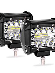 Недорогие -свет работы автомобиля светодиодный свет бар 2шт 20led 60 Вт полосы света 4-дюймовый прожектор модифицированный потолочный светильник ip68