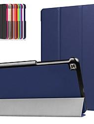 Недорогие -Кейс для Назначение LG LG G Pad 4 8.0 P530 Защита от удара / со стендом / Ультратонкий Чехол Однотонный Твердый Кожа PU