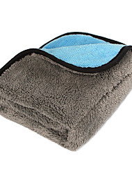 Недорогие -45 * 38 мягкое коралловое флисовое волокно для мойки автомобилей, двухсторонний абсорбент, комплект химической чистки для автомобиля