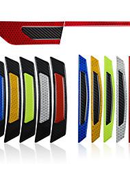 Недорогие -автомобиль светоотражающие полосы предупреждение двери отражатель из углеродного волокна универсальные светящиеся наклейки наклейки
