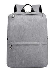 Недорогие -Муж. Мешки Нейлон рюкзак Молнии Сплошной цвет Черный / Серый