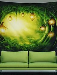 Недорогие -Сад / богемский Theme Декор стены 100% полиэстер Средиземноморье / Богемия Предметы искусства, Стена Гобелены Украшение