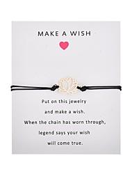 billiga -Dam Enkel slinga Handgjort Link Armband Blomma Trendig Armband Smycken Rosa / Ljusblå / Vinröd Till Party Dagligen