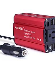 Недорогие -kesge® 4usb 300 Вт красный автомобильный инвертор dc12v / 24v-ac110v американский стандартный разъем с 4 usb инвертором
