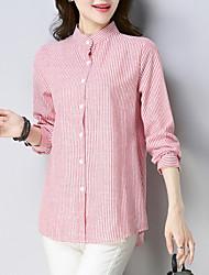 preiswerte -Damen Gestreift Hemd Blau US8