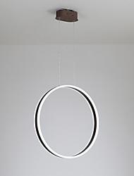 Недорогие -светодиодная современная люстра 60 Вт / кольцевая лампа для столовой кафе-бар, окрашенный алюминием / теплый белый / белый / с возможностью затемнения с пультом дистанционного управления / Wi-Fi