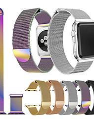 Недорогие -Ремешок для часов для Apple Watch Series 4/3/2/1 Apple Спортивный ремешок / Миланский ремешок Нержавеющая сталь Повязка на запястье