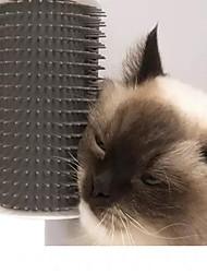 Недорогие -Собаки Коты Щетки пластик Расчески Щетки Массаж Серый Синий Розовый 1
