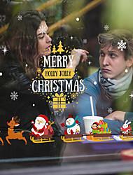 Недорогие -рождественская оконная пленка&усилитель; наклейки украшения рождество / цветочный праздник / геометрические пвх (поливинилхлорид) наклейка окна