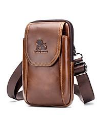 cheap -Men's / Boys' Bags Cowhide Waist Bag / Waistpack Embossed Animal Black / Brown