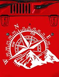 Недорогие -модный автомобиль компас роуз навигация для бездорожья виниловая наклейка наклейка автомобиль авто украшения