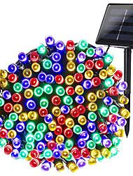Недорогие -Zdm 1 упак. солнечные гирлянды 40 футов 12 м 100 светодиодные 8 режимов на солнечных батареях xmas наружное освещение водонепроницаемый звездное рождество фея огни для комнатных садов дома свадьба