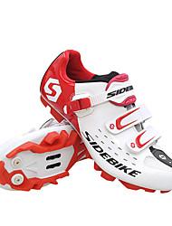 Недорогие -SIDEBIKE Обувь для горного велосипеда Водонепроницаемость Дышащий Противозаносный Велоспорт Черный Красный Зеленый Муж. Обувь для велоспорта / Амортизация / Вентиляция / Амортизация / Вентиляция