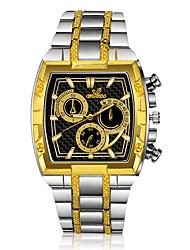 Недорогие -Муж. Нарядные часы Кварцевый Формальный Нержавеющая сталь Серебристый металл / Золотистый Повседневные часы Аналоговый Мода - Золотой / Серебряный Один год Срок службы батареи