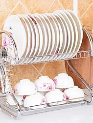 baratos -Alta qualidade com Aço Inoxidável Prateleiras e Suportes Multifunções Cozinha Armazenamento 2 pcs