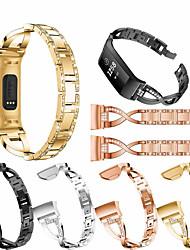 Недорогие -Ремешок для часов для Fitbit Charge 3 Fitbit Дизайн украшения Нержавеющая сталь Повязка на запястье