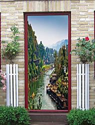 Недорогие -Абстрактный пейзаж наклейки на стены 3d наклейки на стену доски наклейки на стены декоративные наклейки на стены наклейки на холодильник виниловые украшения дома