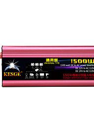Недорогие -Kesge 12v / 24v универсальный тип 1000 Вт автомобильный инвертор постоянного тока dc12v / 24v-ac220v / 110v dc к инвертору переменного тока