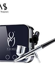billige -airbrush makeup kit luftbørste kompressor sæt pro 0.3mm aerograf ansigt maling / negle kunst / midlertidig tatovering udstyr