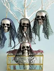 Недорогие -хэллоуин украшения аксессуары ужас голова висит черный шифон цветок пузырь таро украшения