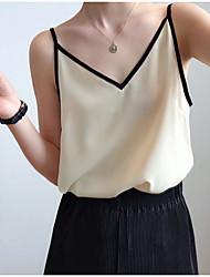 baratos -Mulheres Blusa Sólido Preto US2