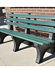 Недорогие -зеленое коммерческое качество открытый сад экологически чистый пластиковый 4-футовый парк скамейка