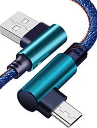 Недорогие -Micro USB Кабель 2.0m (6.5Ft) Плетение Нейлон Адаптер USB-кабеля Назначение Xiaomi
