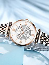 preiswerte -Damen Quartz Uhr Freizeit Modisch Silber Legierung Chinesisch Quartz Silber Rotgold Neues Design Armbanduhren für den Alltag 1 Stück Analog Ein Jahr Batterielebensdauer