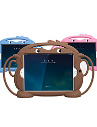 Недорогие -Кейс для Назначение Apple iPad Mini 5 / iPad Mini 3/2/1 / iPad Mini 4 Защита от удара / Детский Безопасный случай Кейс на заднюю панель Однотонный / Животное / 3D в мультяшном стиле силикагель