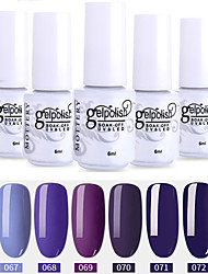 Недорогие -лак для ногтей 6 шт. цвет 67-72 xyp soak-off uv / led gel лак для ногтей сплошной цвет лак для ногтей наборы