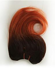 voordelige -4 bundels Braziliaans haar Golvend Echt haar Patroon 8 inch(es) Menselijk haar weeft Extensions van echt haar