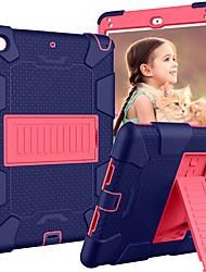 Недорогие -Кейс для Назначение Apple iPad (2018) / iPad Air 2 / iPad (2017) со стендом / Детский Безопасный случай Кейс на заднюю панель Однотонный / броня силикагель
