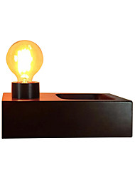 Недорогие -светодиодные настольные лампы лампа для чтения куба современные простые настольные светильники деревянные коричневые американские простота прикроватные кабинет освещение комнаты