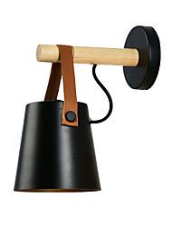 Недорогие -современная нордическая новинка матовый черный настенный светильник кровать светлый деревянный бра для спальни прихожая кабинет (1 свет)