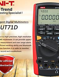 Недорогие -Интеллектуальный цифровой мультиметр uni-t ut71d истинное среднеквадратичное значение 40000 отсчетов вольт амперметр ёмкость термометр USB / Bluetooth связь