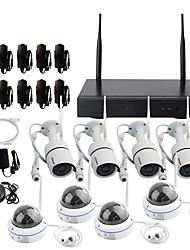 Недорогие -Wi-Fi 1080p, система видеонаблюдения по сети с 2-мегапиксельными ip-камерами, 4-кратными пулями ip-камер, 4x 2-мегапиксельными купольными камерами, беспроводная безопасность.