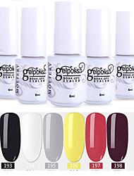 Недорогие -лак для ногтей 6 шт. цвет 193-198 xyp soak-off uv / led гель лак для ногтей сплошной цвет лак для ногтей наборы