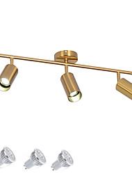 Недорогие -3-х ламповый точечный светильник / лампа gu10 led5w для гостиной, спальни, столовой, выставочного зала, торгового центра / теплый белый / белый