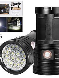 Недорогие -XM18 Светодиодные фонари 14200 lm Светодиодная лампа LED 18 излучатели Руководство 3 Режим освещения с USB кабелем Водонепроницаемый Для профессионалов Анти-шоковая защита