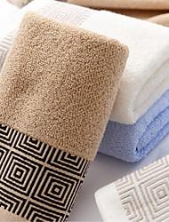 Недорогие -Высшее качество Полотенца для мытья, Однотонный / Клетки / Мода Полиэстер / хлопок / Хлопко-льняная смешанная ткань Ванная комната 1 pcs
