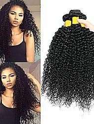 voordelige -3 bundels Braziliaans haar Kinky Curly Onbehandeld haar 100% Remy haarweefselbundels Helm Menselijk haar weeft Verlenging 8-28 inch Natuurlijke Kleur Menselijk haar weeft Pasgeboren Klassiek