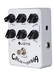 Недорогие -Joyo JF-15 калифорнийская звуковая гитара педаль эффектов с 6 регулировочными ручками истинный обход педали гитары аксессуары для гитары
