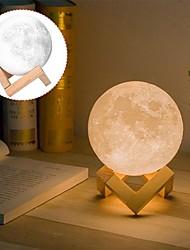 Недорогие -1шт MOON Настольный ночной светильник Тёплый белый / Белый / Желтый USB Для детей / Перезаряжаемый / Диммируемая Батарея / <5 V